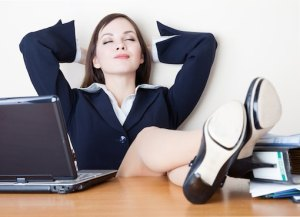 woman-relaxing-office