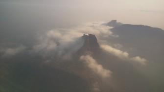 over the Mumbai sky